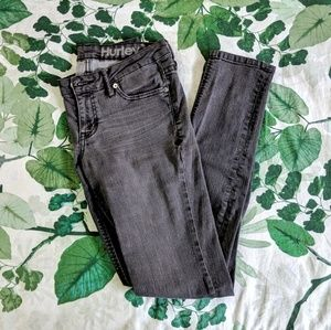Gray Hurley Jean Leggings With Ankle Zippers
